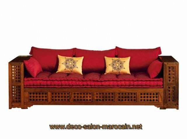 Salon Marocain En Bois Arabesque : Décoration Traditionnelle