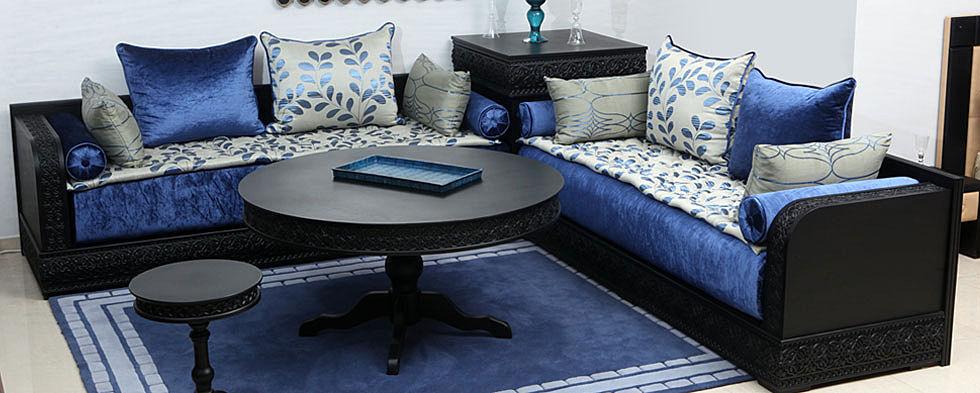 ... Salon Marocain Moderne Gris Et Noir   Home Interior Design Trends ...