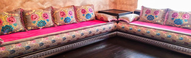 Choix de tissu benchrif salon marocain traditionnel - Déco salon ...