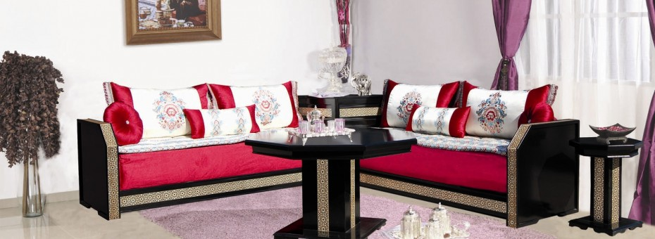 Salon marocain traditionnel design moderne - Modele de canape moderne ...