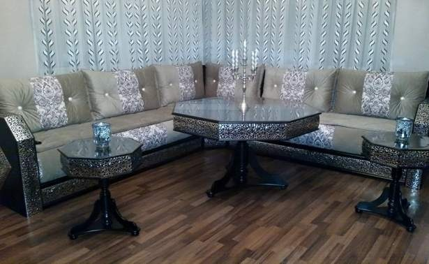 Salon marocain traditionnel design moderne